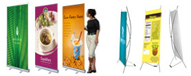 Design X Banner Roll Up Banner Murah