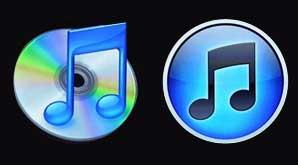 Logo iTunes Baru dan Lama