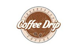 Desain Logo Cafe Coffe Drips